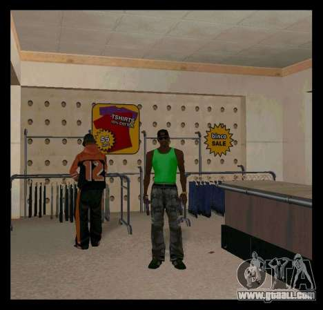 Green and Purple Mike for GTA San Andreas