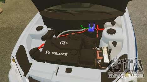 VAZ-2170 Police for GTA 4 inner view