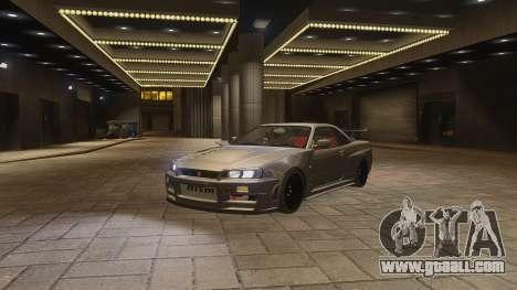 Nissan Skyline GTR-34 Nismo Z-Tune for GTA 4 side view