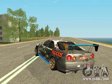 Nissan Skyline Drift for GTA San Andreas back left view
