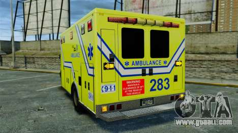 Brute New Liberty Ambulance [ELS] for GTA 4 back left view