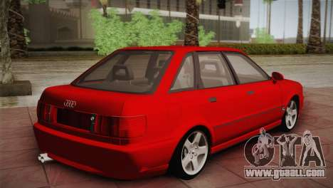 Audi 80 B4 RS2 for GTA San Andreas back left view