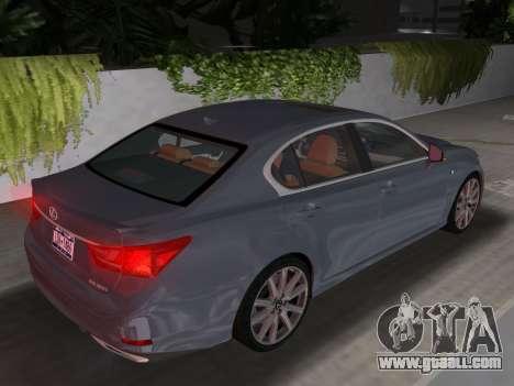 Lexus GS350 F Sport 2013 for GTA Vice City inner view