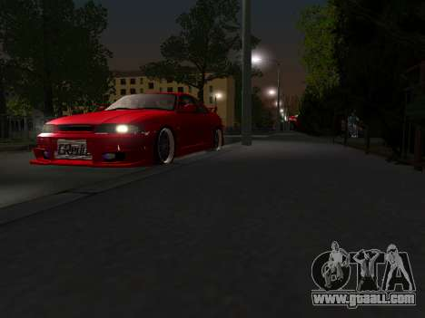 Nissan Skyline R33 GT-R V-Spec for GTA San Andreas inner view