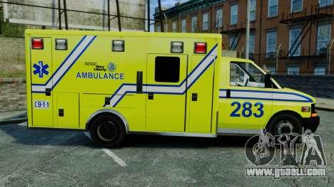 Brute New Liberty Ambulance [ELS] for GTA 4 left view