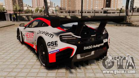 McLaren MP4-12C GT3 for GTA 4 back left view