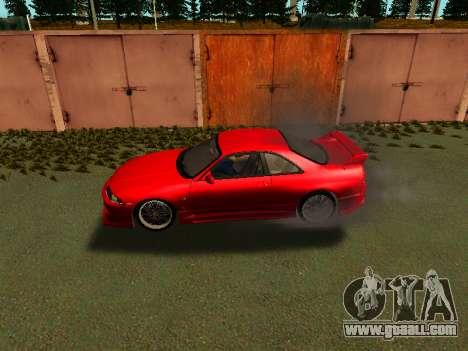 Nissan Skyline R33 GT-R V-Spec for GTA San Andreas back left view