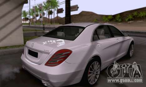 Mercedes-Benz W222 for GTA San Andreas side view