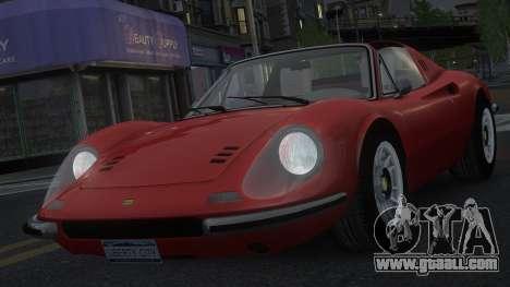 Ferrari Dino 246 GTS for GTA 4 upper view