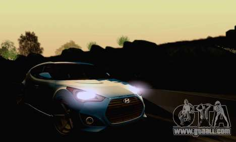 Hyundai Veloster for GTA San Andreas inner view