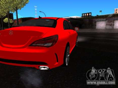 Mercedes-Benz CLA 250 for GTA San Andreas back view