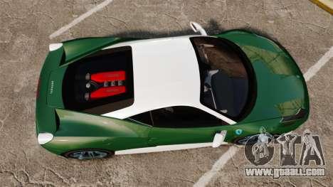 Ferrari 458 Italia for GTA 4 right view
