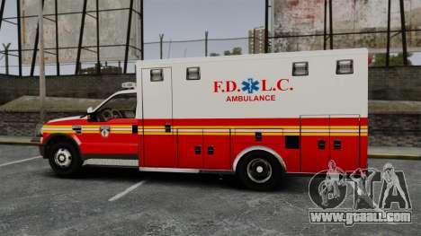 Ford F-250 Super Duty FDLC Ambulance [ELS] for GTA 4 left view