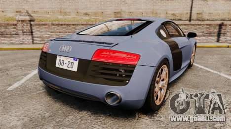 Audi R8 V10 plus Coupe 2014 [EPM] for GTA 4 back left view