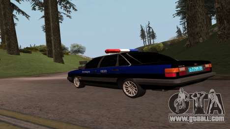 Audi 100 Police Department for GTA San Andreas left view