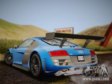 Audi R8 LMS v2.0.4 DR for GTA San Andreas right view