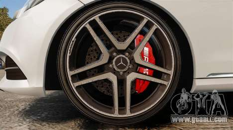 Mercedes-Benz E63 AMG 2014 v2.0 for GTA 4 back view