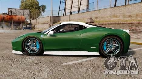 Ferrari 458 Italia for GTA 4 left view