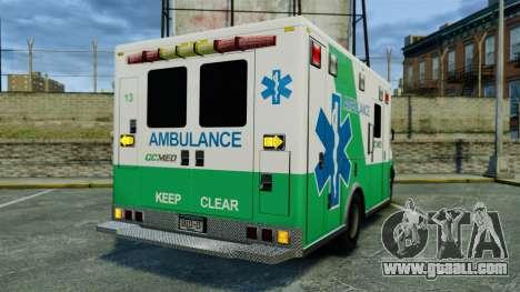 Brute GQ Med Ambulance [ELS] for GTA 4 back left view