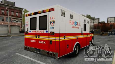 Ford F-250 Super Duty FDLC Ambulance [ELS] for GTA 4 back left view