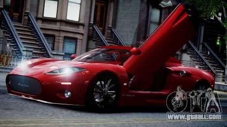 Spyker C8 Aileron Spyder v2.0 for GTA 4 upper view