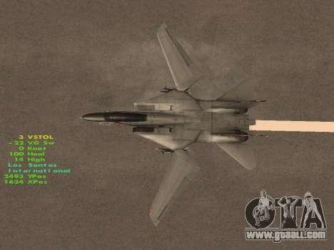 F-14 Tomcat HQ for GTA San Andreas interior