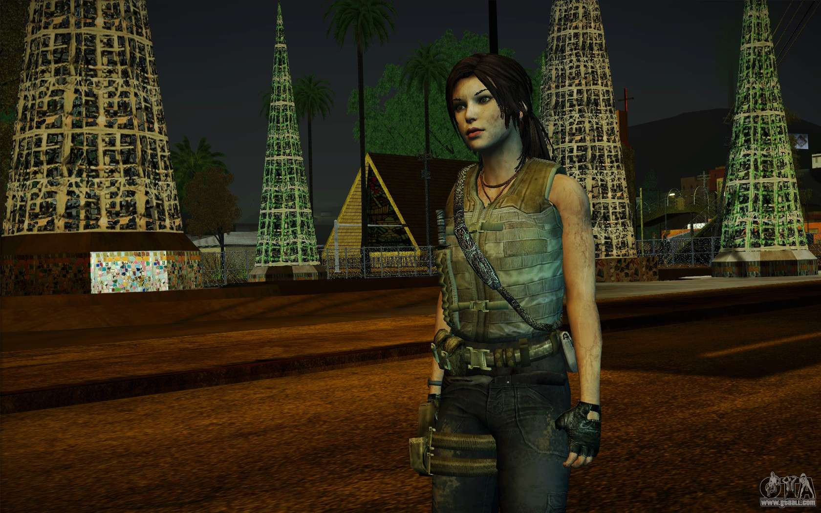 Tomb Raider Lara Croft Guerilla Outfit For GTA San Andreas