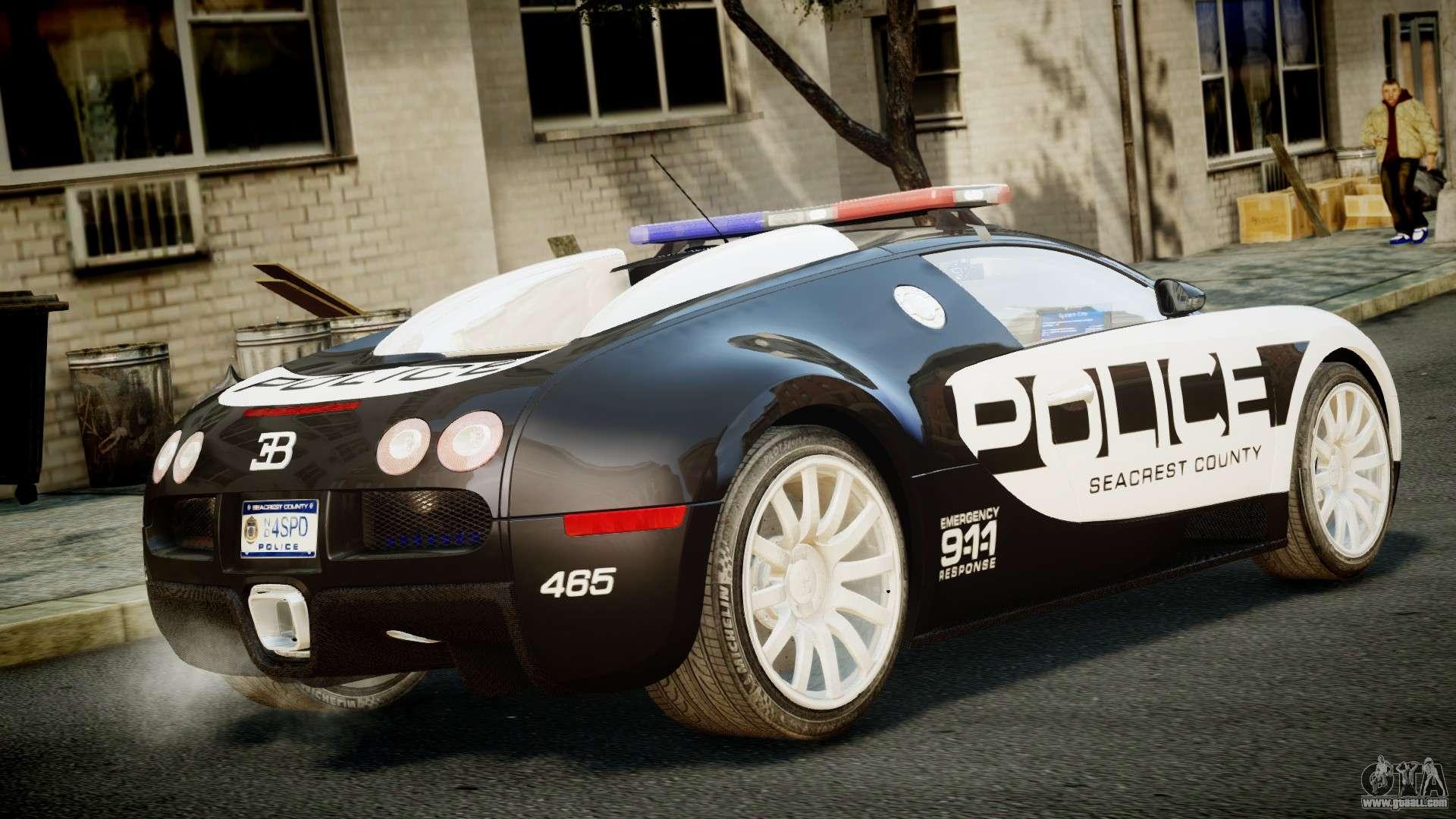 bugatti veyron 16 4 police nfs hot pursuit for gta 4. Black Bedroom Furniture Sets. Home Design Ideas