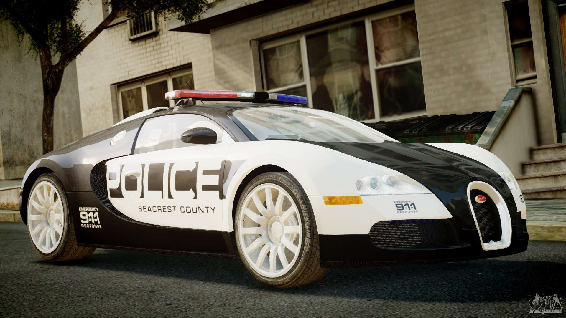 Bugatti Veyron 16 4 Police Nfs Hot Pursuit For Gta 4