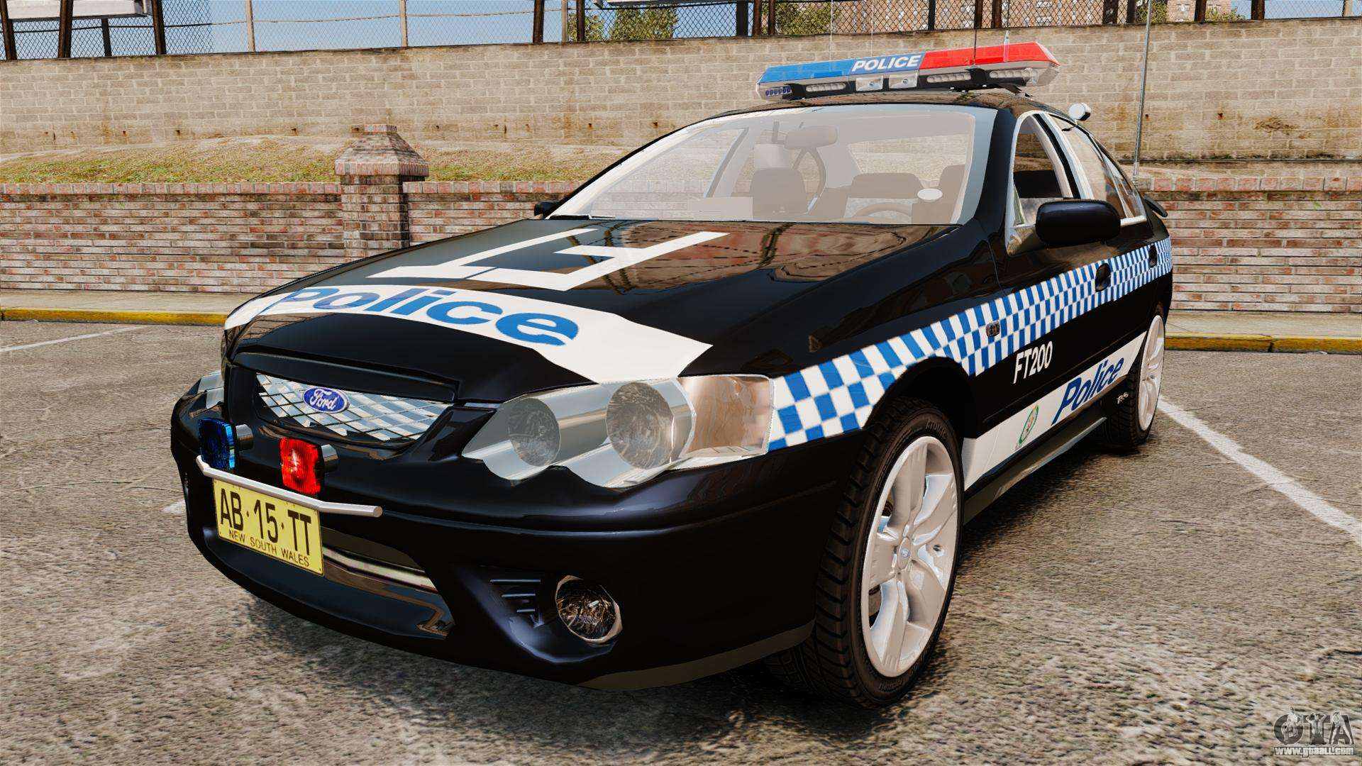 Ford Bf Falcon Xr Turbo Police Els For Gta