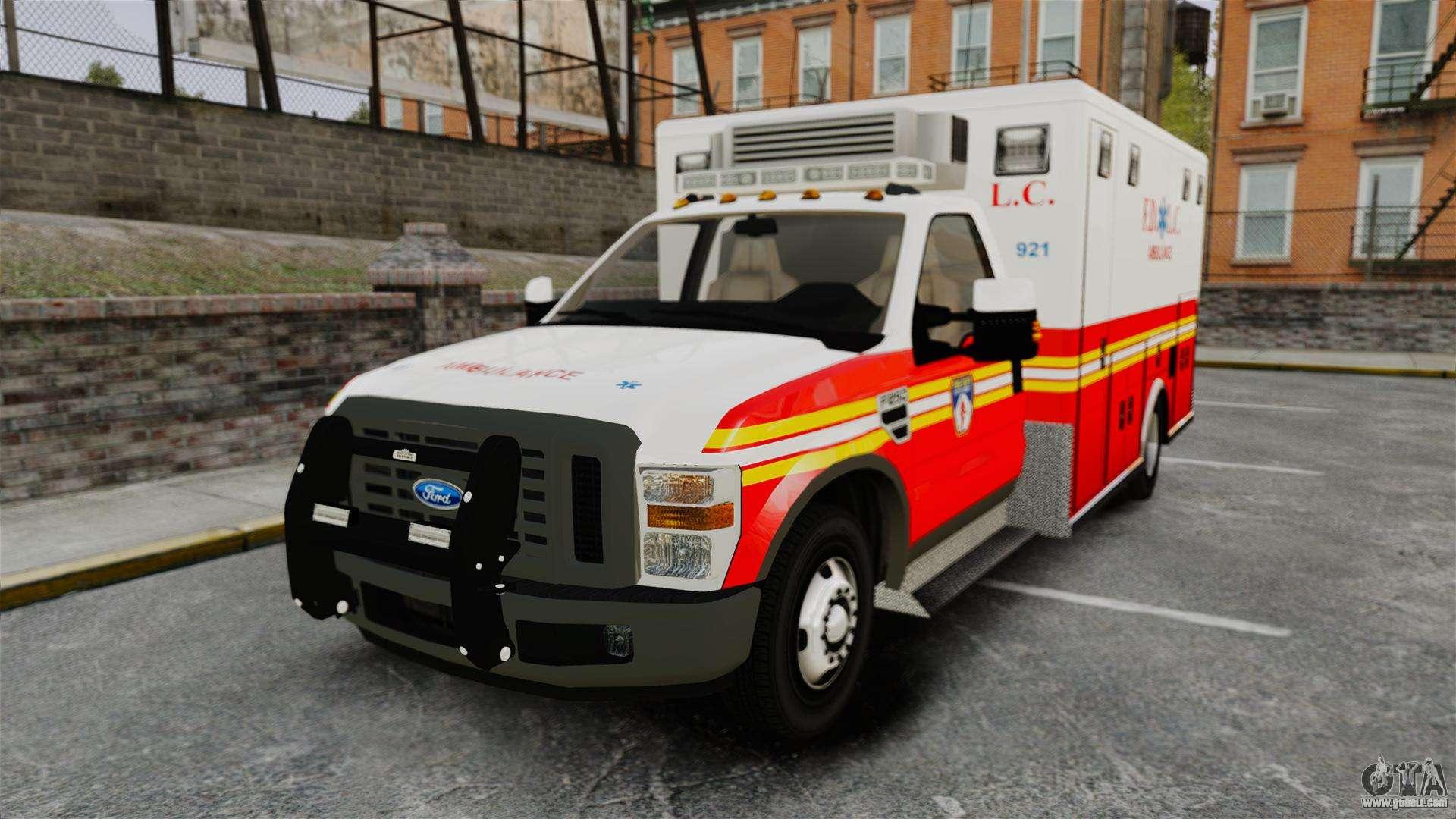 ford f 250 super duty fdlc ambulance els for gta 4. Black Bedroom Furniture Sets. Home Design Ideas