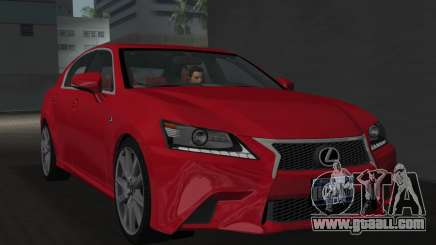 Lexus GS350 F Sport 2013 for GTA Vice City