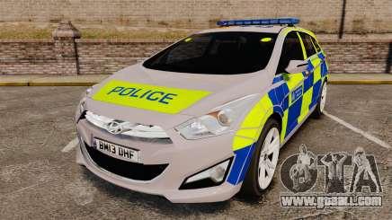 Hyundai i40 2013 Metropolitan Police [ELS] for GTA 4
