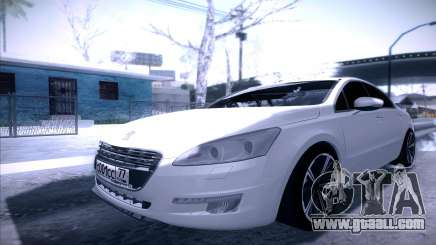 Peugeot 508 2011 v2 for GTA San Andreas