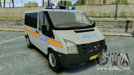 Ford Transit Metropolitan Police [ELS] for GTA 4