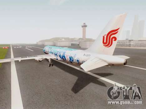 Airbus A320 Air China for GTA San Andreas back left view
