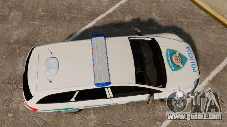 Ford Mondeo Croatian Police [ELS] for GTA 4 right view