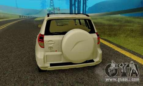 Toyota RAV4 for GTA San Andreas right view