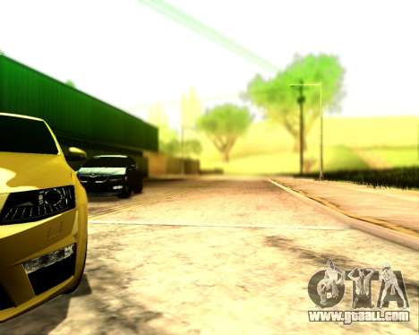 Skoda Octavia A7 RS for GTA San Andreas back view