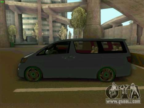 Toyota Alphard for GTA San Andreas left view