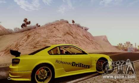 Nissan Silvia S15 Romanian Drifters for GTA San Andreas back view