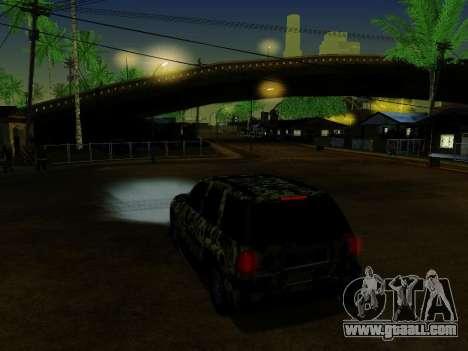Chevrolet TrailBlazer Army for GTA San Andreas bottom view