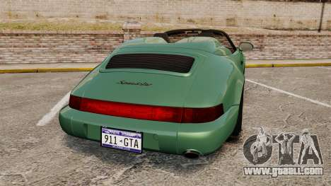Porsche 911 Speedster for GTA 4 back left view