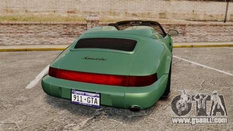 Porsche 911 Speedster for GTA 4 back left view