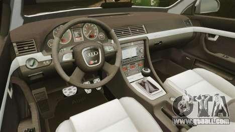 Audi S4 Avant Hungarian Police [ELS] for GTA 4 side view