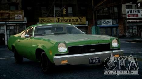 Chevrolet El Camino 1973 Old for GTA 4 inner view