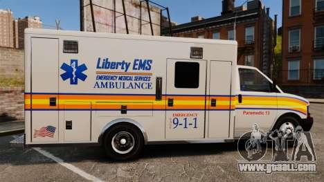 Brute Speedo LEMS Ambulance [ELS] for GTA 4 left view