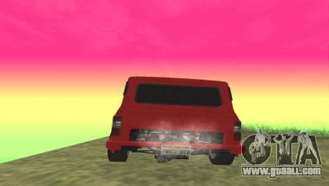 Ford Transit Supervan 3 Custom for GTA San Andreas back left view