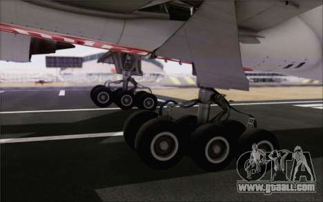 Emirates Airlines 777-200 for GTA San Andreas back view