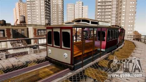 Tram from San Andreas for GTA 4 third screenshot
